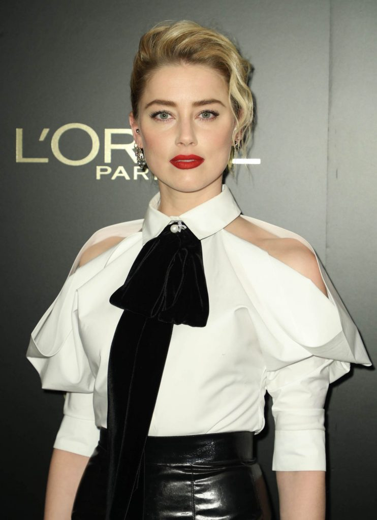 Amber Heard – L-Oreal Paris Women Of Worth Awards 2019 in NYC