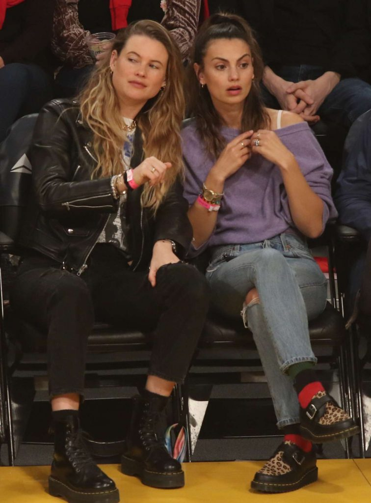 Behati Prinsloo and Whitney Hartley Wagner – LA Lakers and the Denver Nuggets Game in LA