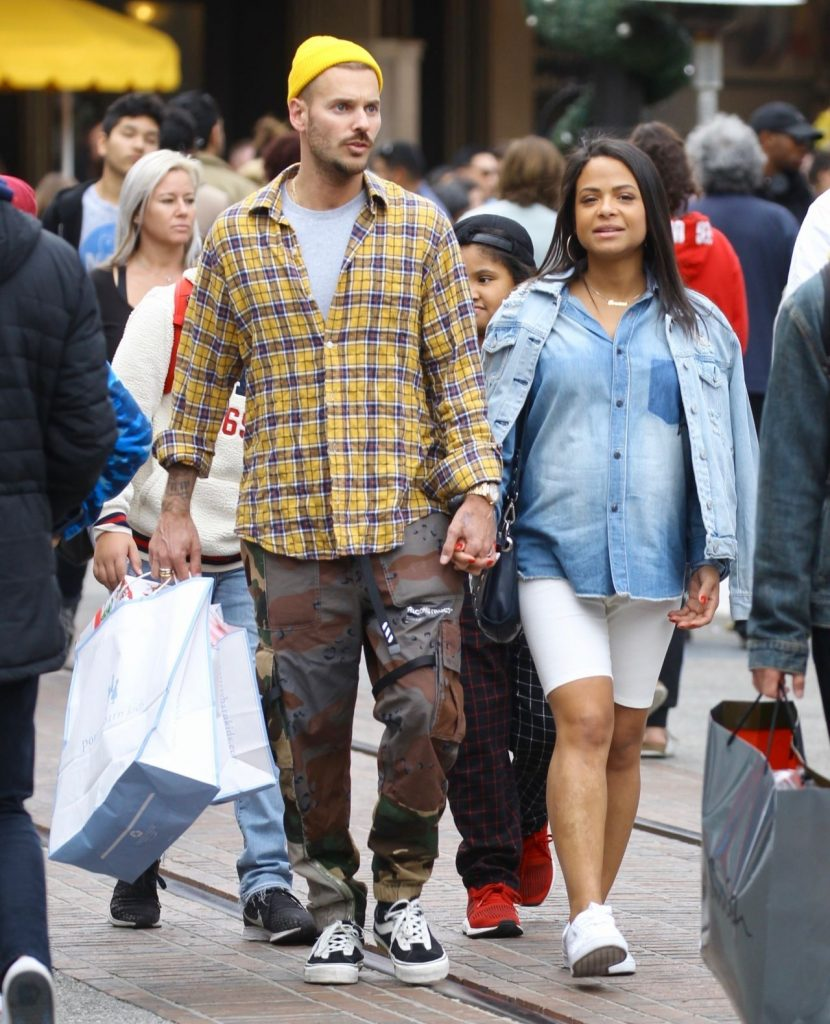 The Grove Outdoor Shopping Center in West Hollywood: Christina Milian