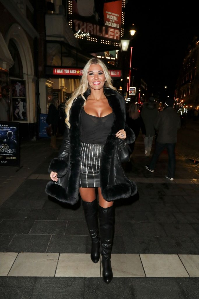 Christine McGuinness – Thriller Live at the Lyric Theatre in London December