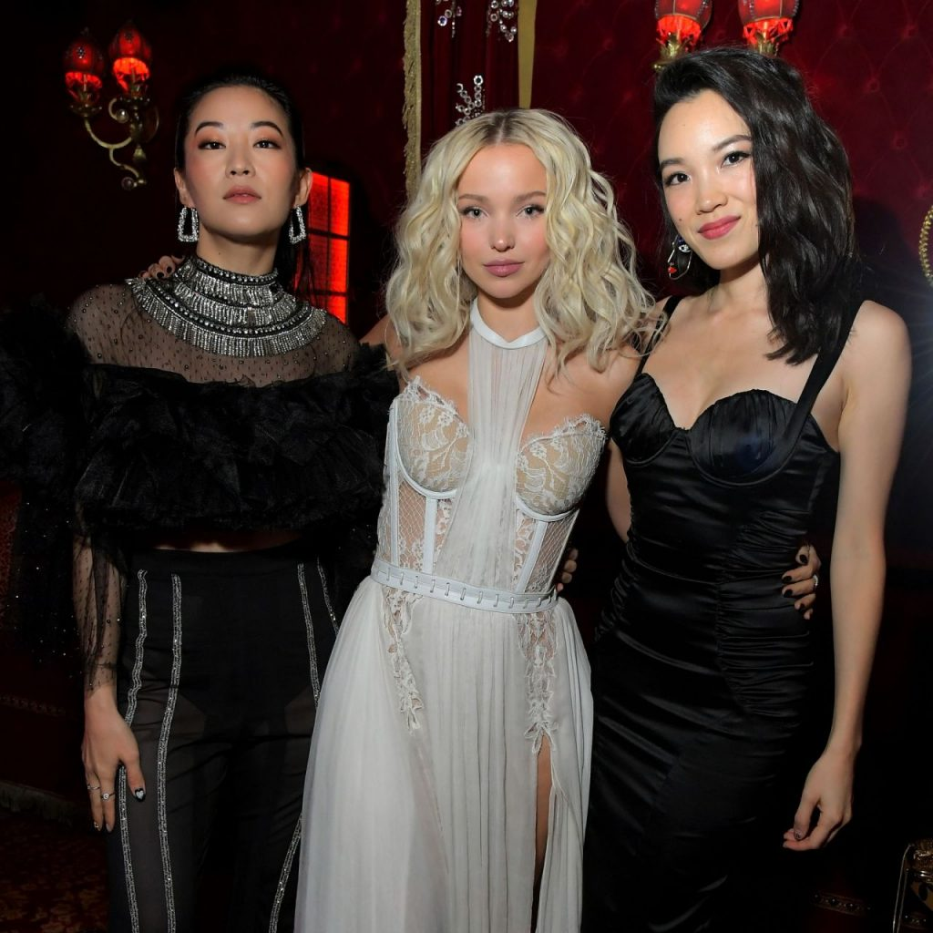 Dove Cameron – Lancome x Vogue L-Absolu Ruby Holiday Event in West Hollywood