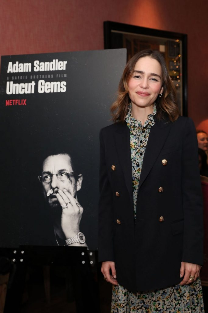 Emilia Clarke Netflix Tastemaker Screening for Uncut Gems in London