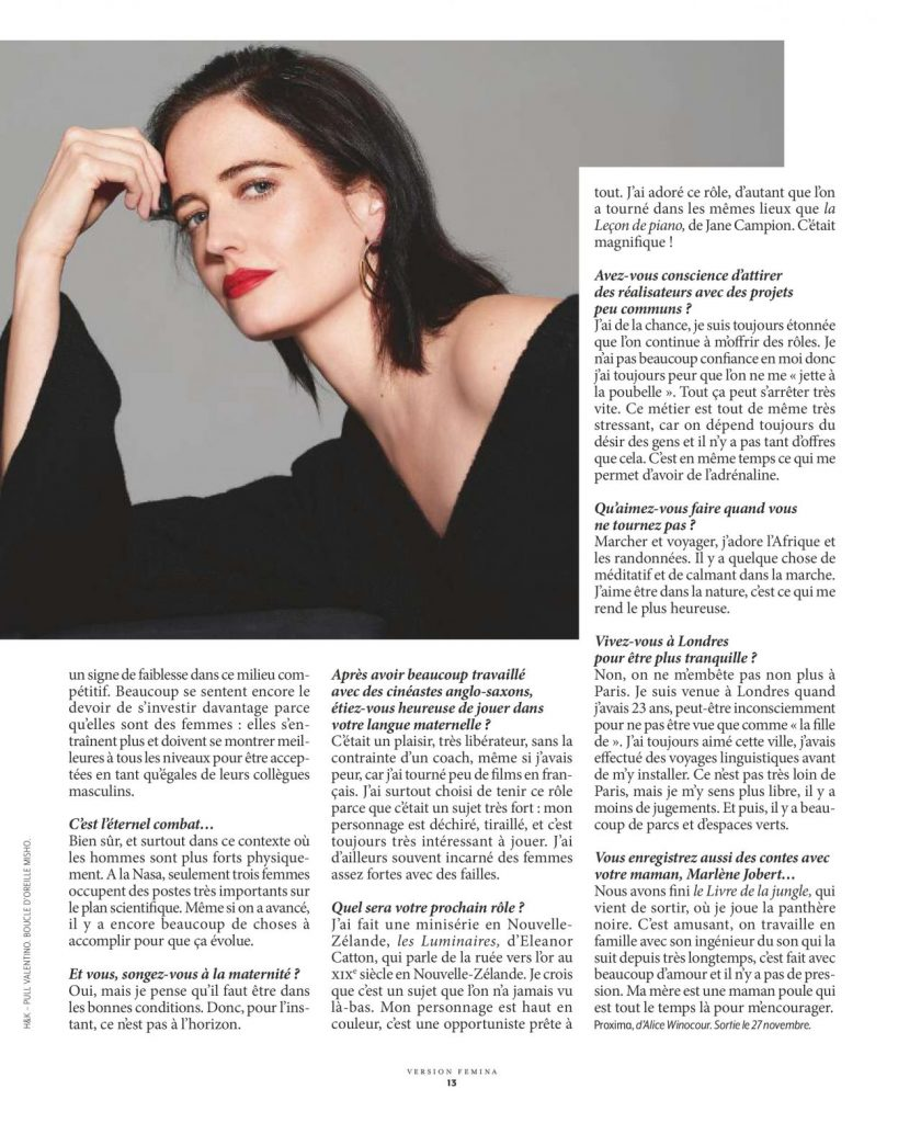 Eva Green – Version Femina November 2019 Issue