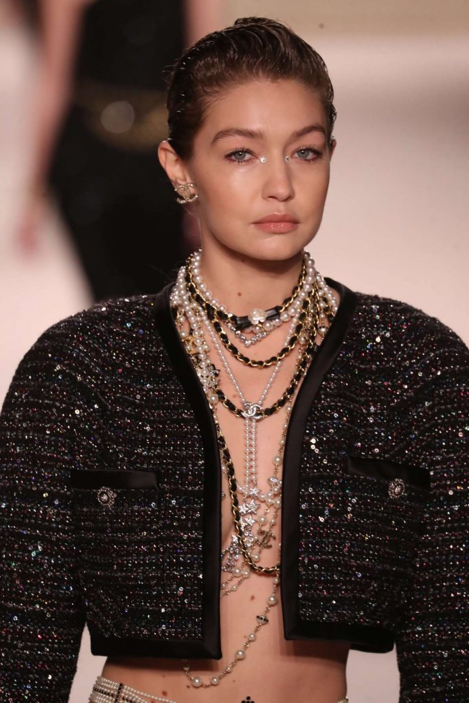 Gigi Hadid – Chanel Metiers D-art Runway Show in Paris