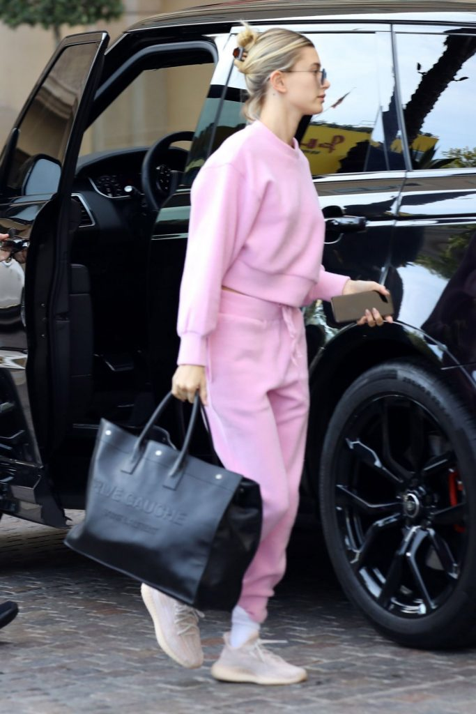 Hailey Rhode Bieber in Pink – Out in LA