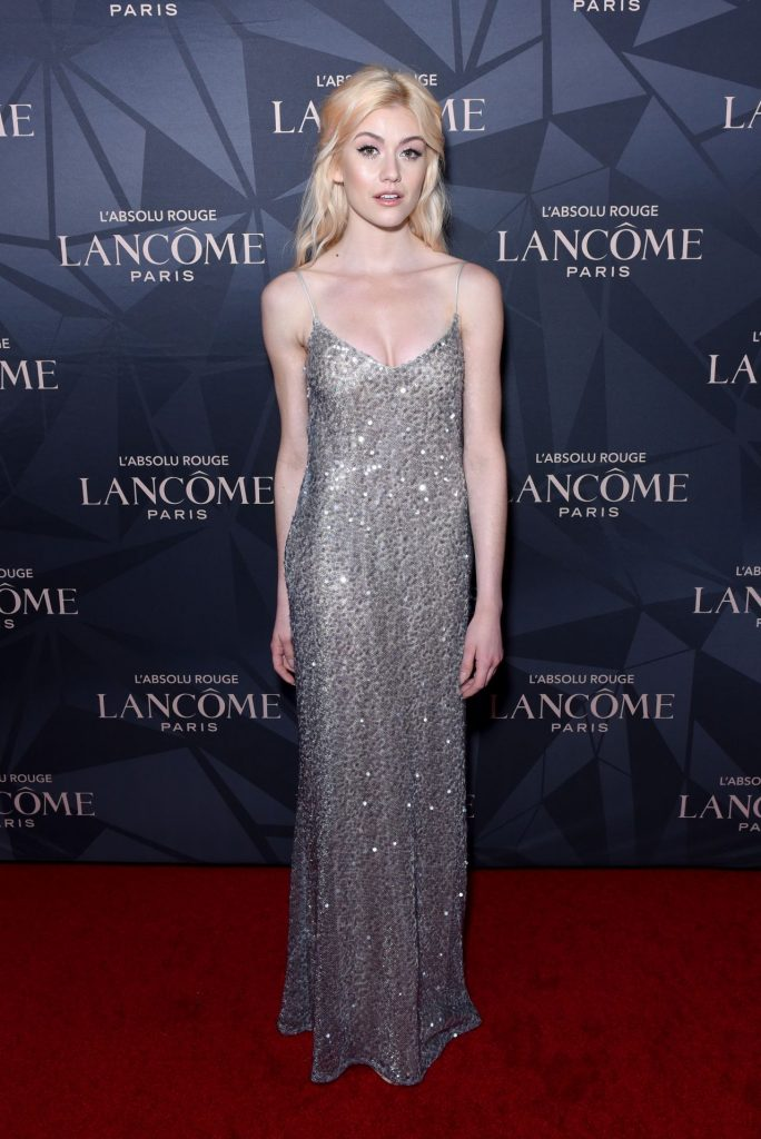 Katherine McNamara – Lancome x Vogue L'Absolu Ruby Holiday Event in West Hollywood