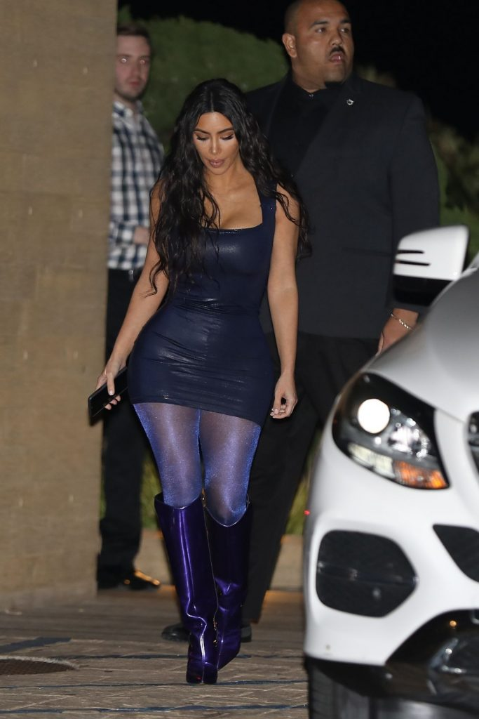 Kim Kardashian Arrives at Nobu in Malibu 2019