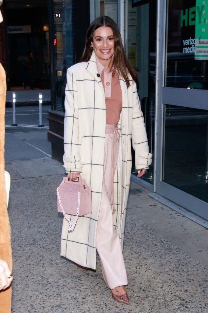 Lea Michele – Arrives at BUILD Series in New York City 12-05-2019
