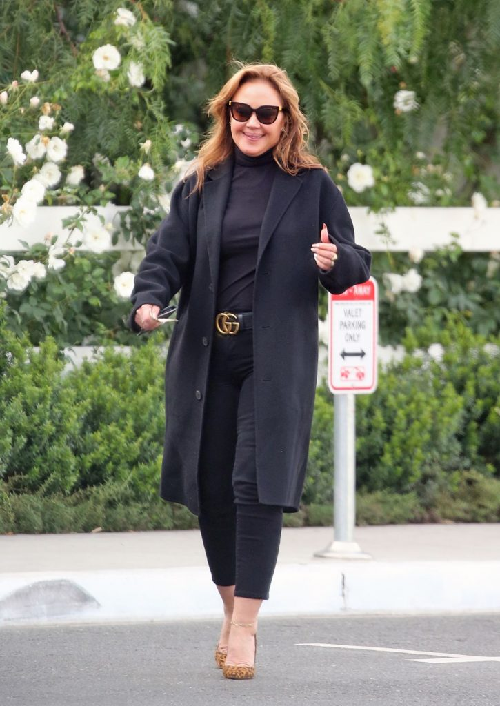 Leah Remini Leaving a Restaurant in Hollywood 2019