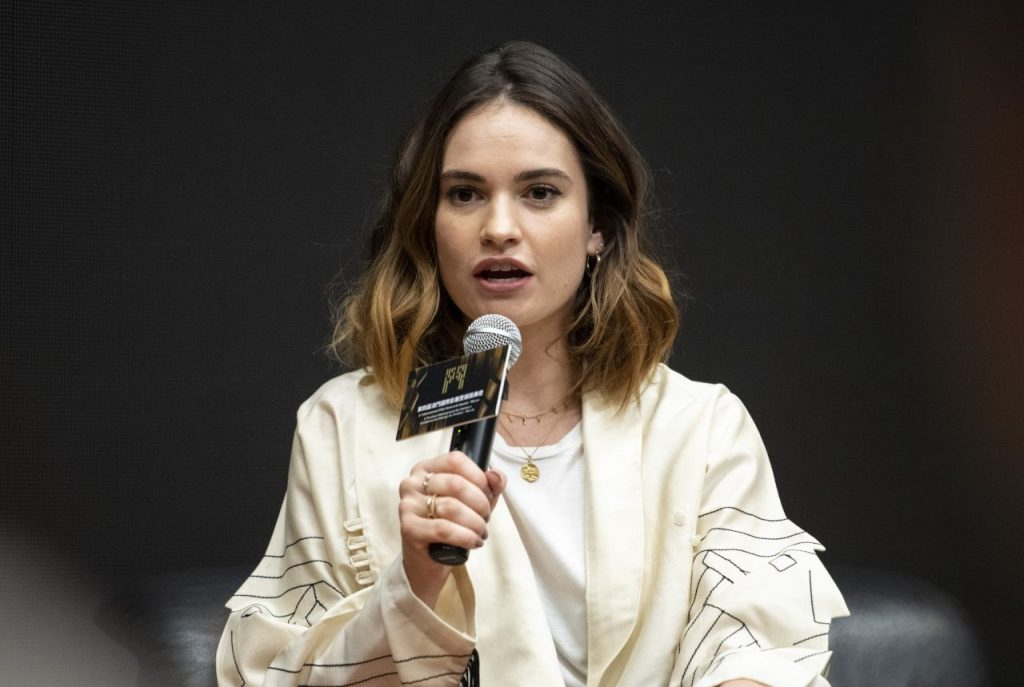 Lily James – Hosts a Masterclass at The International Film Festival – Awards in Macao