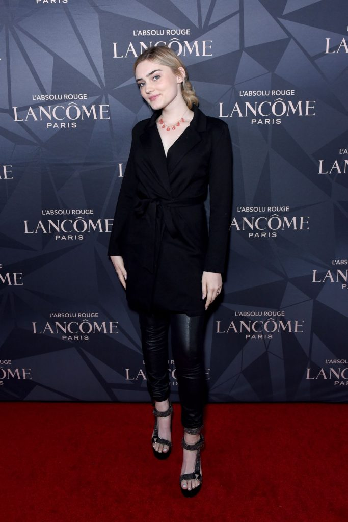 Meg Donnelly – Lancome x Vogue L'Absolu Ruby Holiday Event in West Hollywood