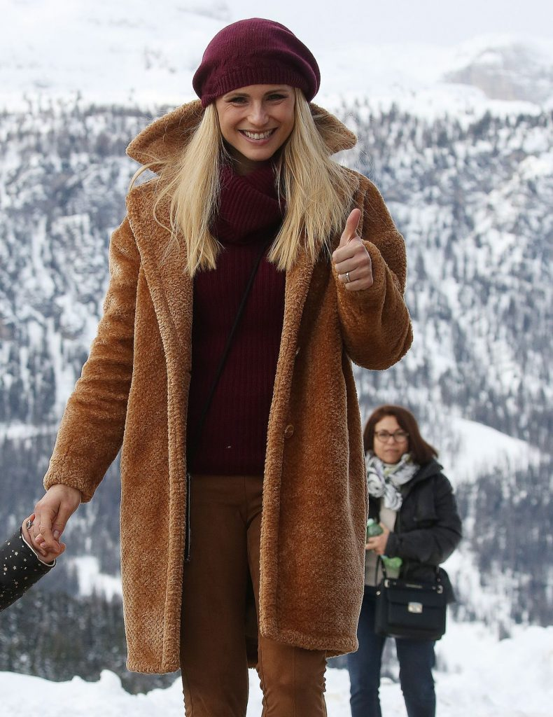 Michelle Hunziker Mountains in San Cassiano December 2019