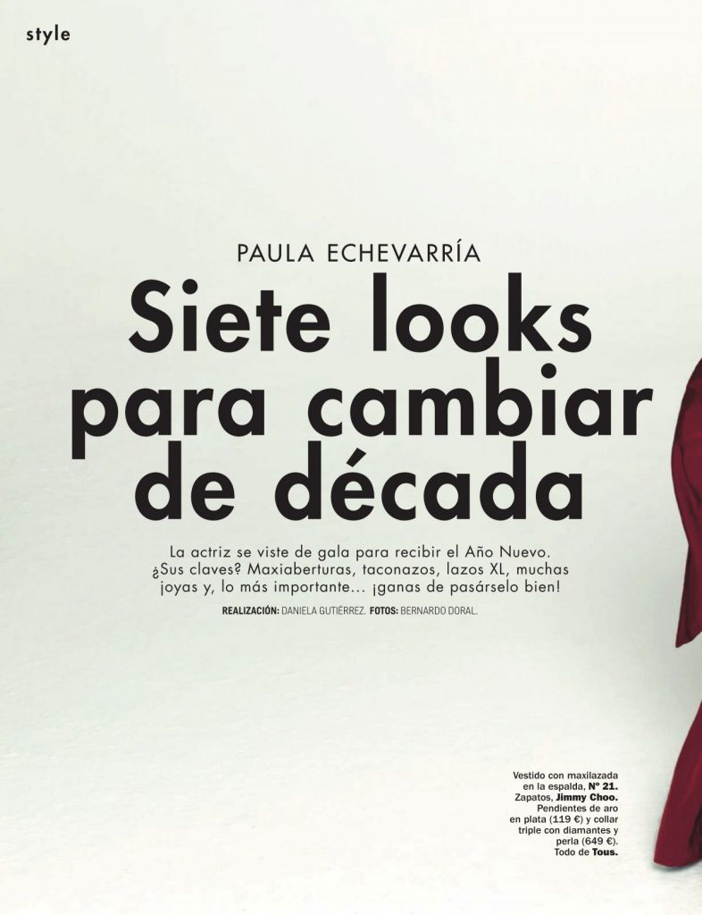Cosmopolitan Espana January 2020 Issue: Paula Echevarria
