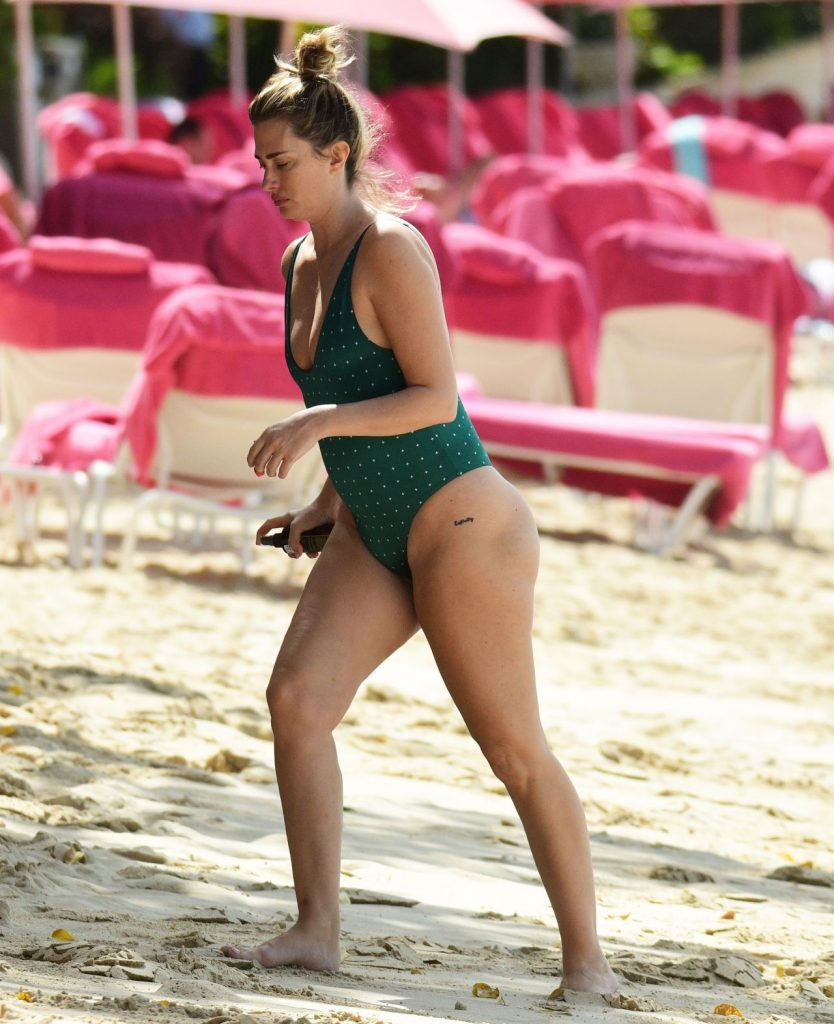 Rhea Durham in a Swimsuit in Barbados