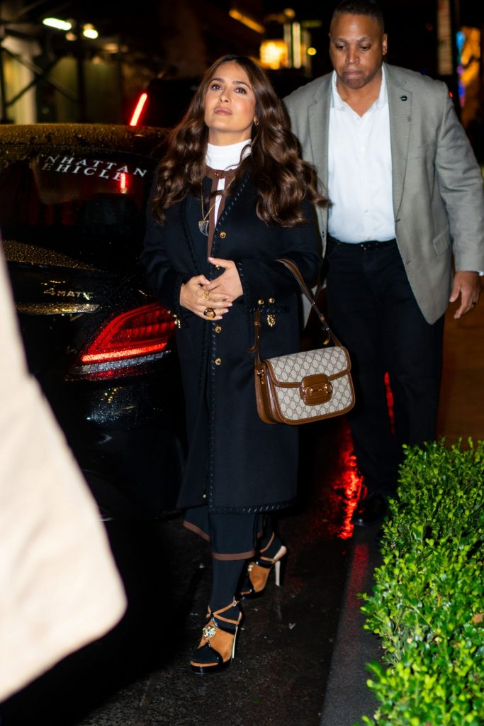 Salma Hayek – Leaving a Junket for Like A Boss in NYC
