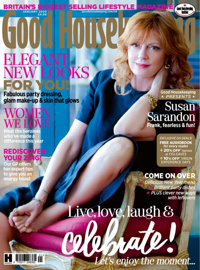 Susan Sarandon – Good Housekeeping UK January 2020 Issue