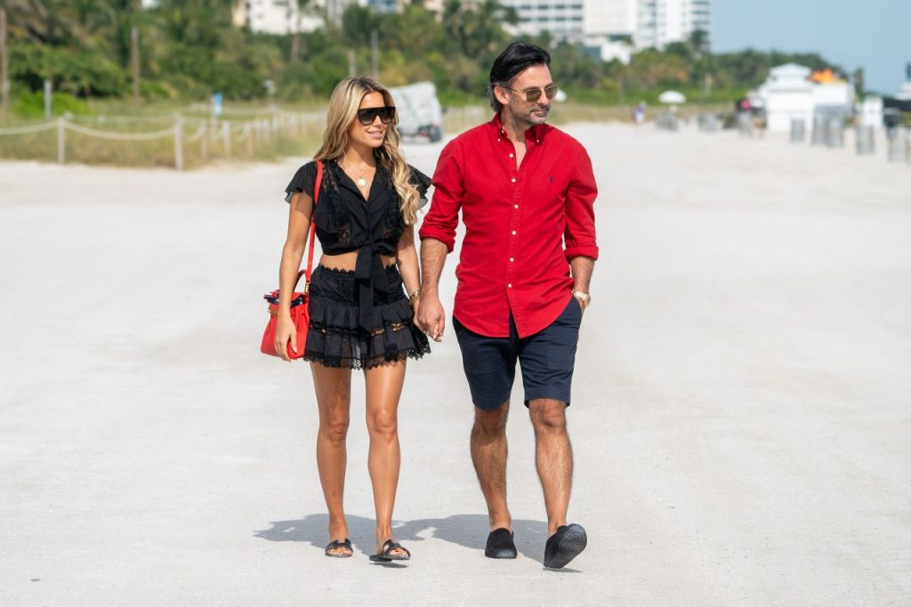 Sylvie Meis and Nicals Castello – Out in Miami Beach 12-05-2019