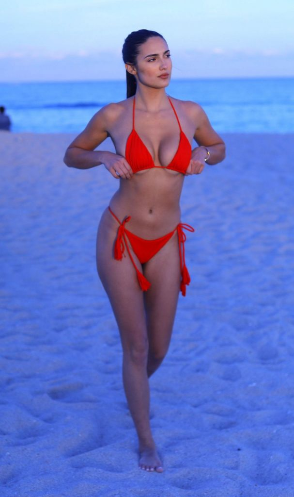 Tao Wickrath in a Red Bikini 12-6-2019