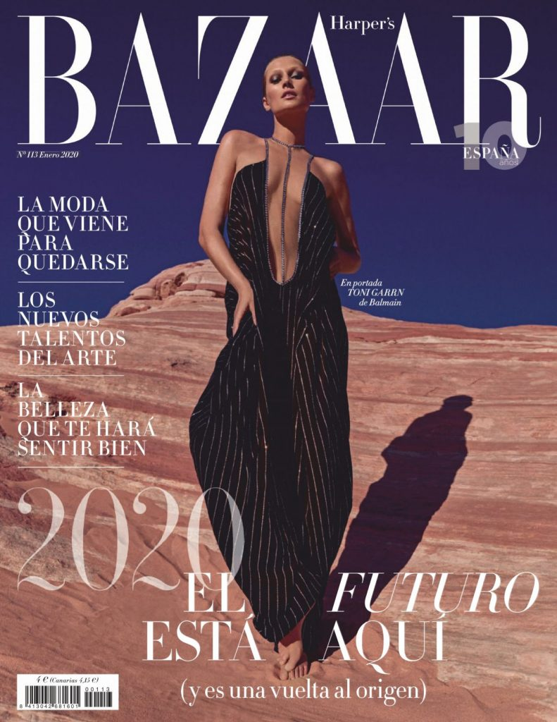 Harper's Bazaar Spain January 2020 Issue: Toni Garrn