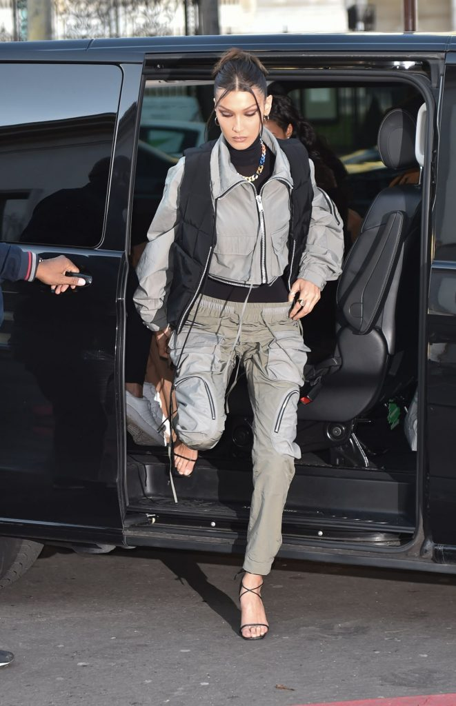 Bella Hadid – Arrives at the Palais De Tokyo for Mens Fashion Week 2020 (13 Photos)