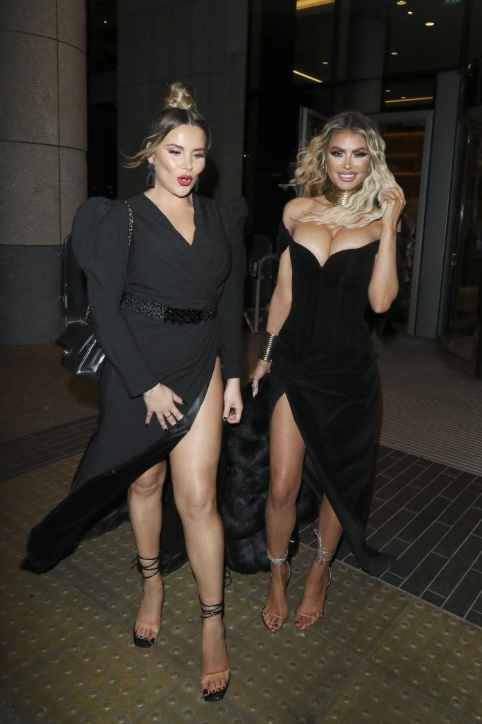 Chloe Sims and Georgia Kousoulou – Leaving the NTA Afterparty 2020 (9 Photos)