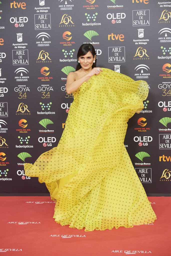 Goya Cinema Awards 2020 in Madrid: Elena Sanchez (5 Photos)