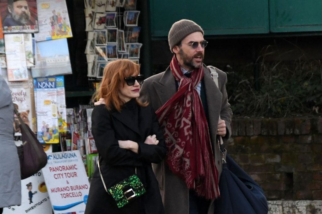 Jessica Chastain and Gian Luca Passi – Venice December 2019