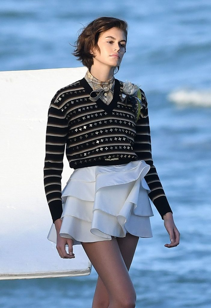 Kaia Gerber – Louis Vuitton Photoshoot Set in Miami (13 Photos)