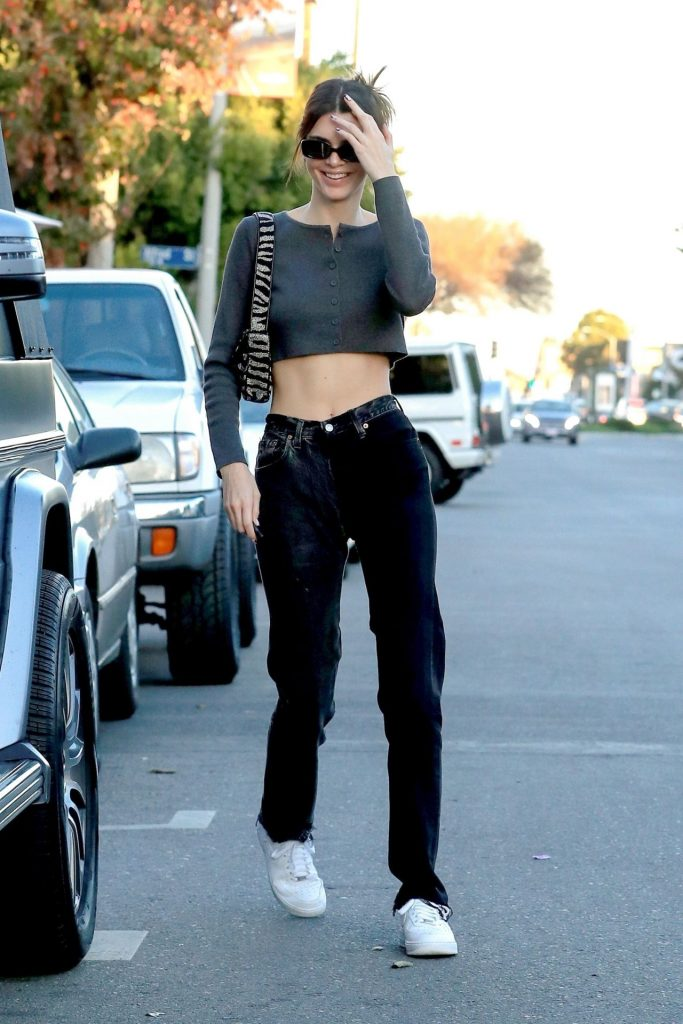 Kendall Jenner – Leaves Alfreds in West Hollywood 2020 (12 Photos)