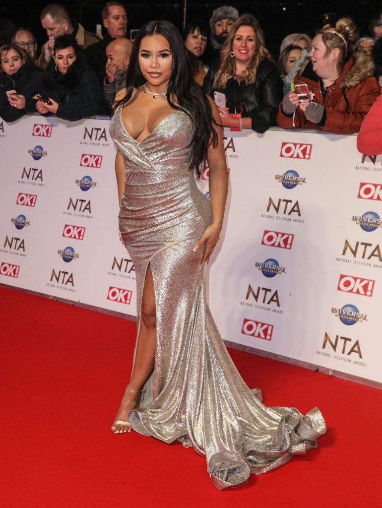 National Television Awards 2020 in London: Lateysha Grace (6 Photos)