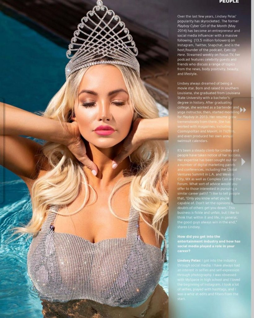 Miami Living Magazine January 2020: Lindsey Pelas