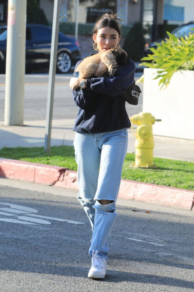 Madison Beer – Outside of Cha Cha Matcha in West Hollywood January 2020