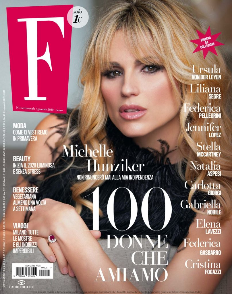 Michelle Hunziker – F- Magazine January 2020 Issue
