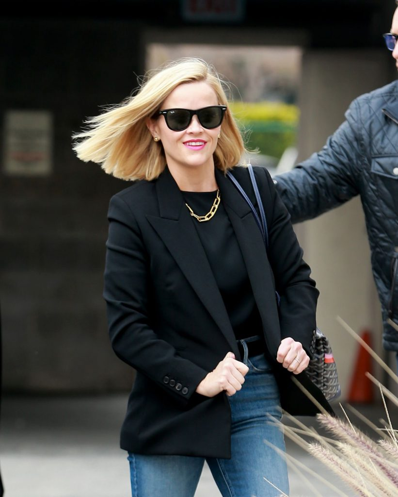 Reese Witherspoon – Heads to a Business Meeting January 2020