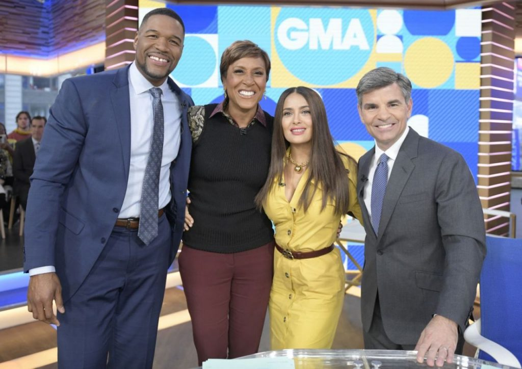 Salma Hayek – GMA in NYC January 2020