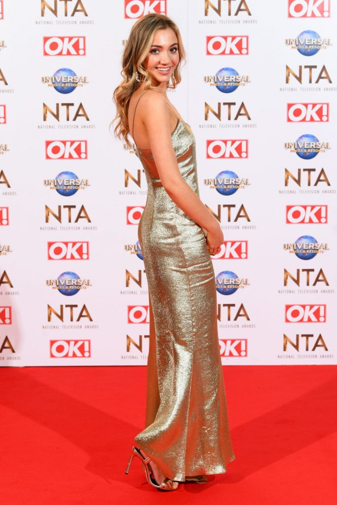 National Television Awards 2020 in London: Tilly Keeper (10 Photos)
