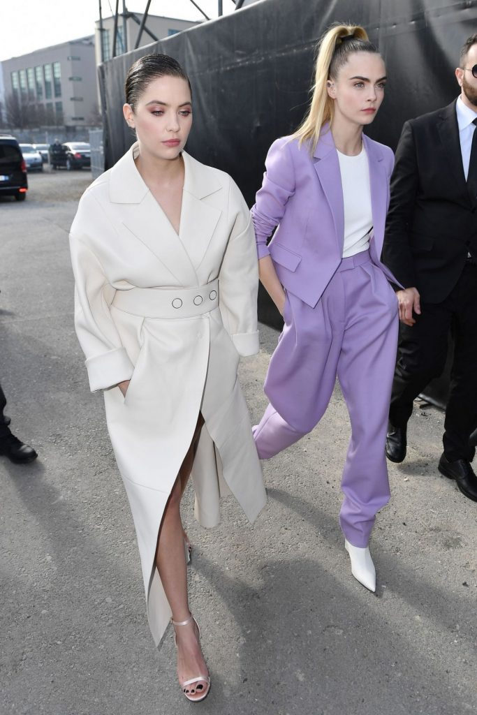 Cara Delevingne and Ashley Benson – Arriving at the Boss Fashion Show in Milan 2020 (4 Photos)