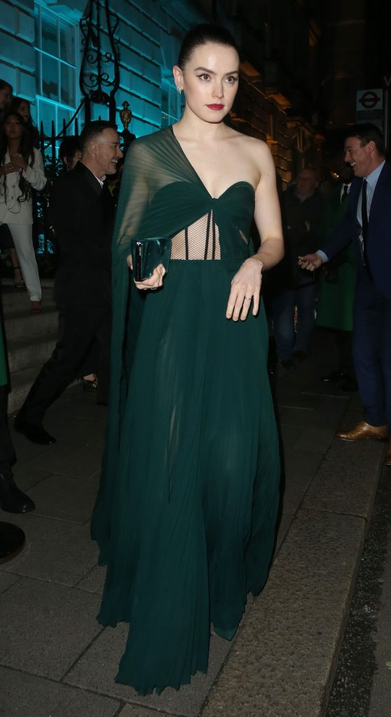 Daisy Ridley – Leaving Vogue Party in London 2020 (3 Photos)