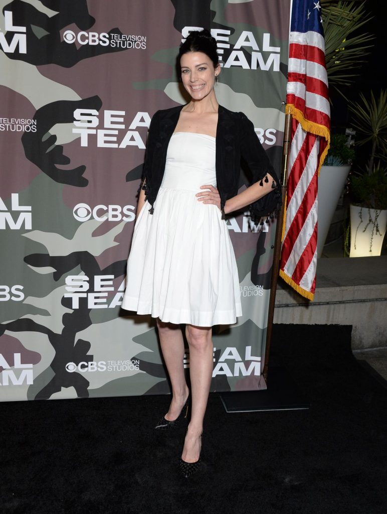 SEAL Team TV Show Premiere in LA: Jessica Pare (10 Photos)