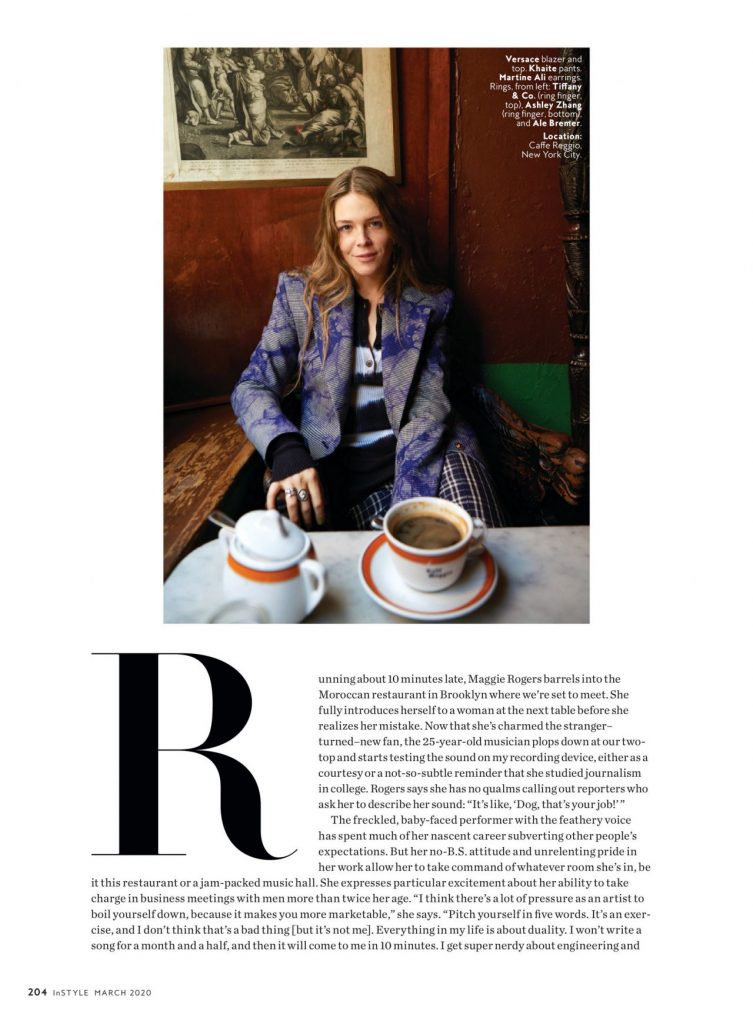 Maggie Rogers – InStyle US March 2020 Issue