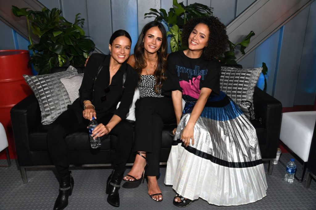 Nathalie Emmanuel – The Road to F9 Global Fan Extravaganza in Miami 2020 (4 Photos)