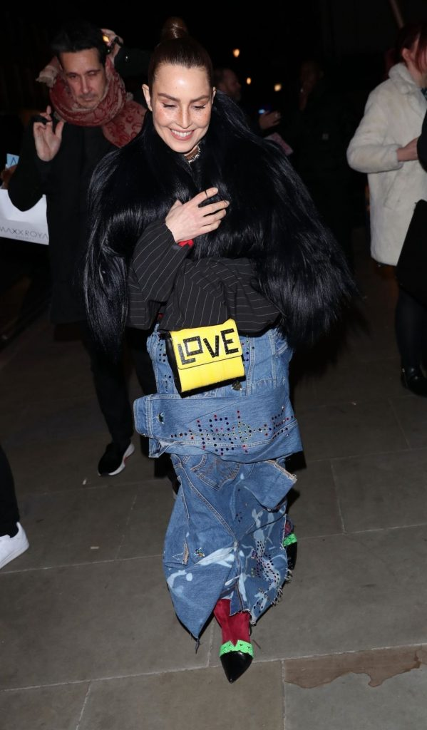 Noomi Rapace – Arriving at the Love Magazine Party in London 2020 (6 Photos)