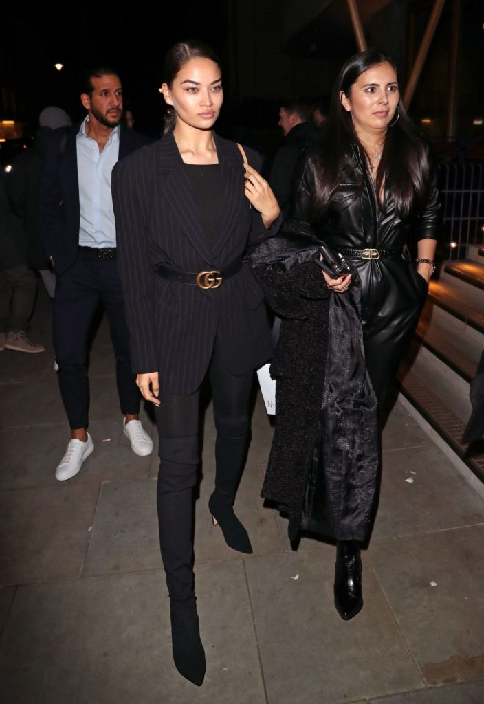 Shanina Shaik – Arriving at the Love Magazine Party in London 2020 (4 Photos)