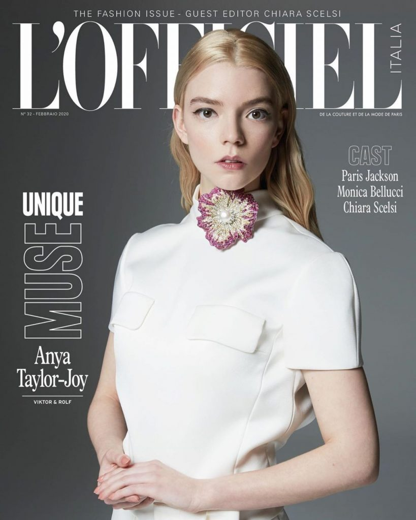 Anya Taylor-Joy – L'Officiel Magazine Italy February 2020 Issue (9 Photos)