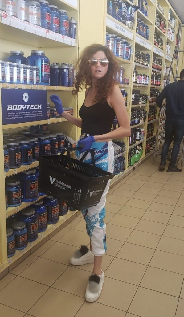 Blanca Blanco With Latex Gloves – Shopping at the Pharmacy 2020 (10 Photos)