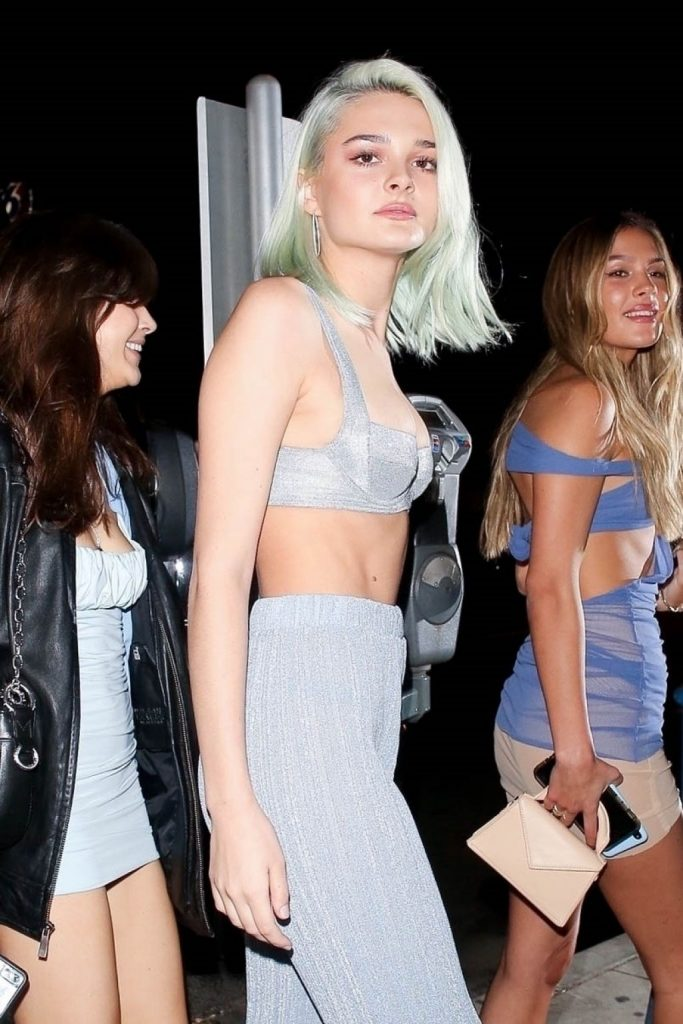 Charlotte Lawrence – Arriving to Madison Beer's 21st Birthday Party (10 Photos)