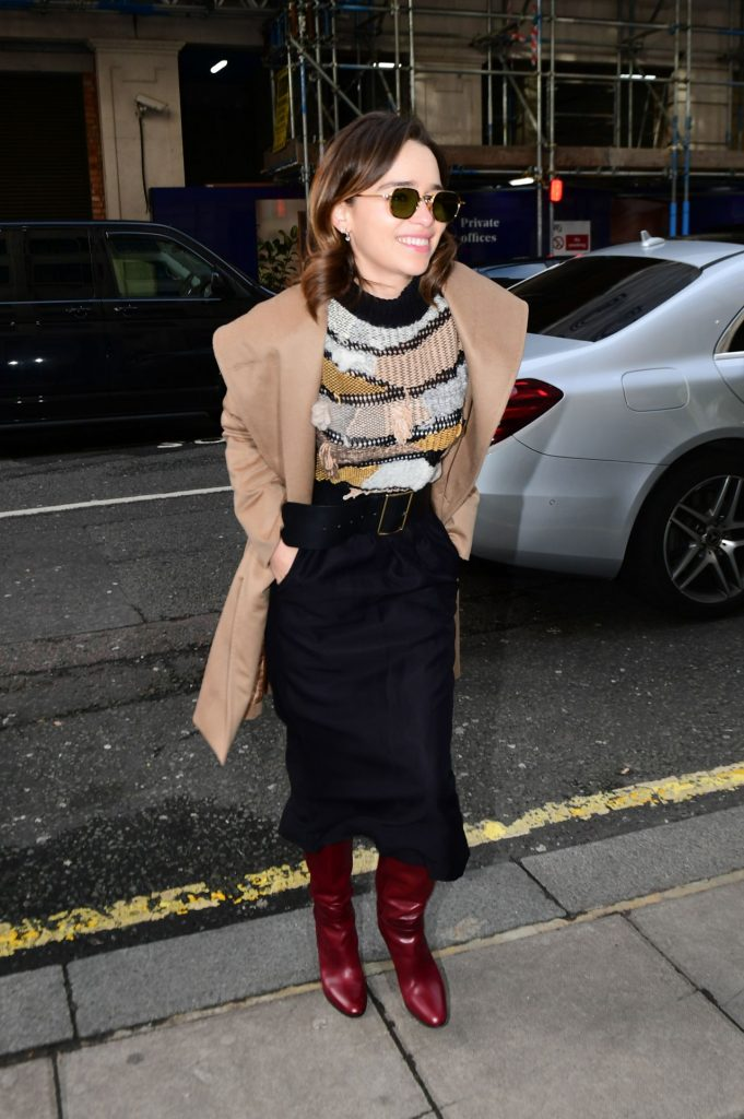 Emilia Clarke – Arrives at Radio 2 in London 2020 (7 Photos)