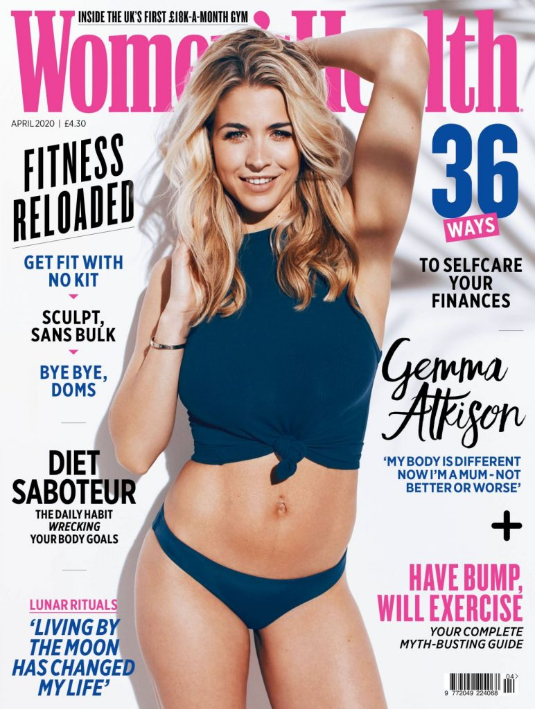 Gemma Atkinson – Women'sHealth UK Magazine Cover and Photos 2020 (4 Photos)