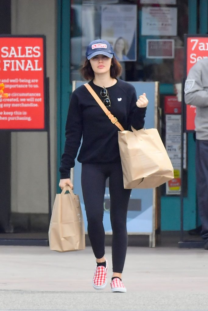 Lucy Hale – Shops for Groceries 2020 (7 Photos)