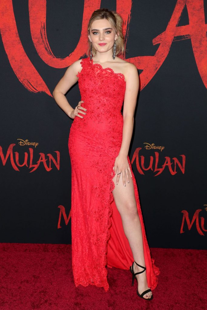 Mulan Premiere in Hollywood: Meg Donnelly (8 Photos)